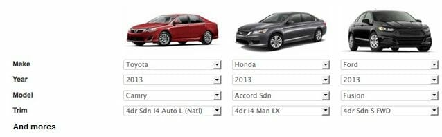 Car database | Year make model specifications